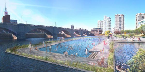 Charles River Conservancy Swim Park Rendering